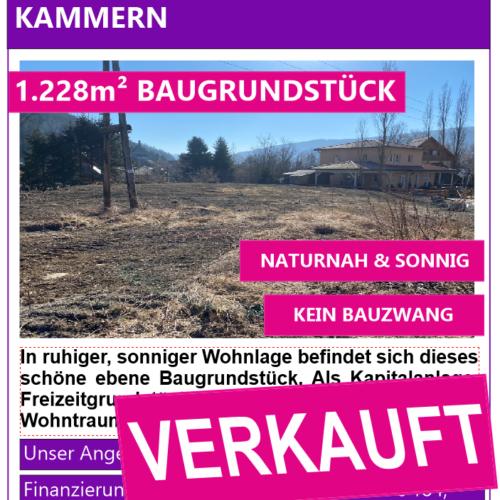 Inserat 1.300m² Grundstück Verkauft