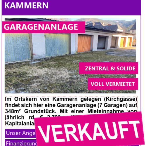 Inserat Verkauft Kammern Garagenanlage