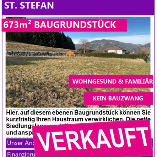 Baugrundstück St. Stefan Verkauft