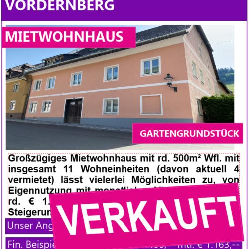 Vordernberg Verkauft